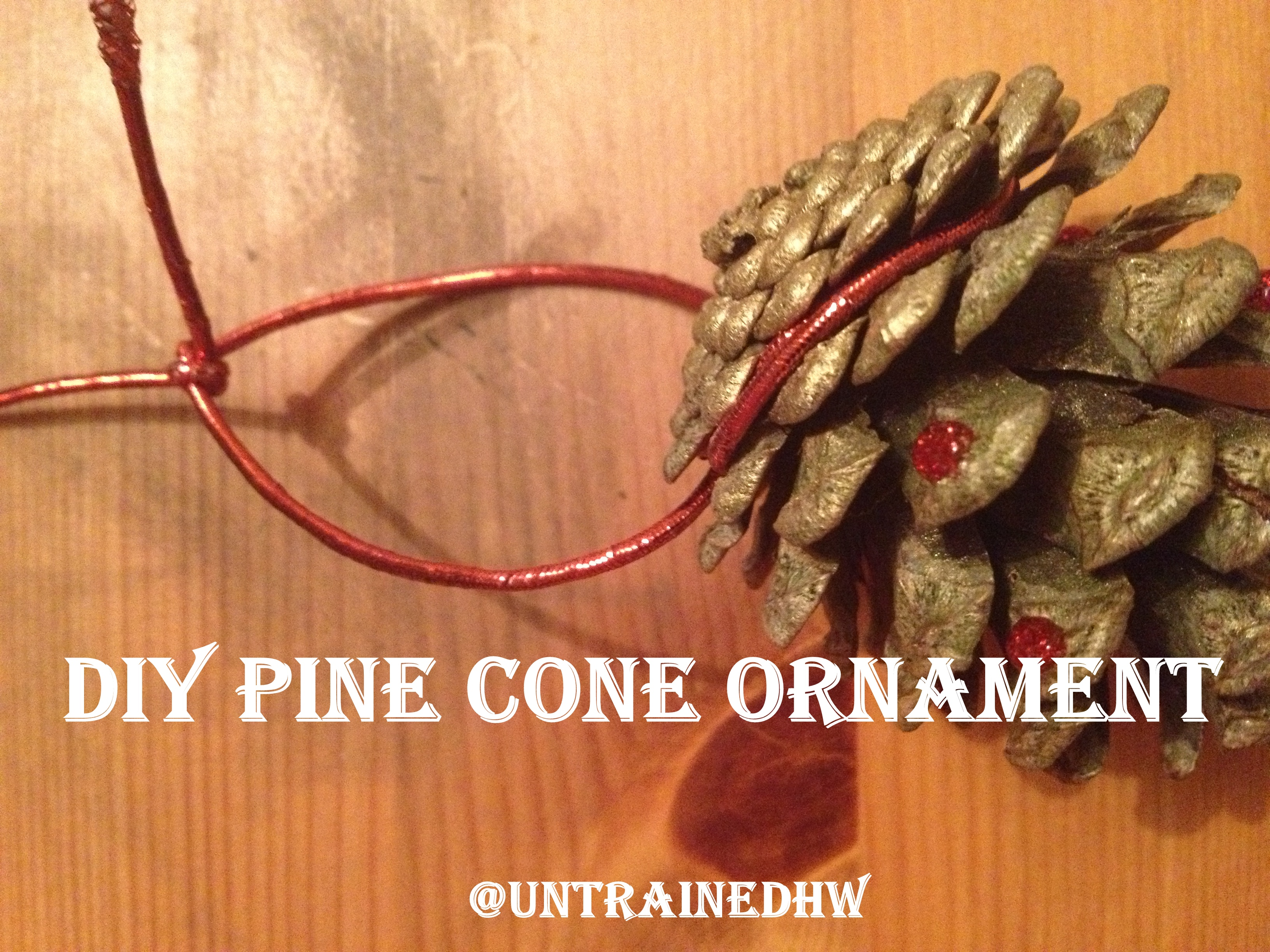 diy pine cone christmas tree decorations