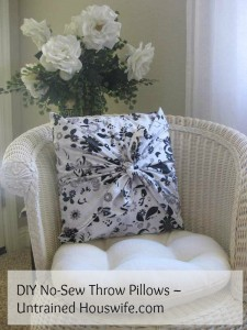 DIY No-Sew Throw Pillows