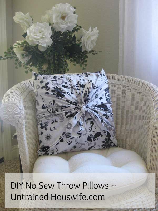 No Sew Couch Pillows: DIY No Sew Throw Pillows,