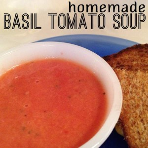 Cream of Tomato Soup with Basil (Recipe)