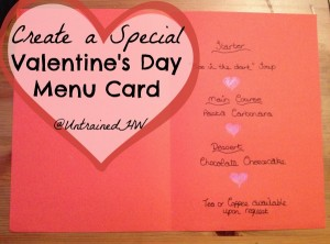 Create Your Own Special Valentine's Day Menu Card