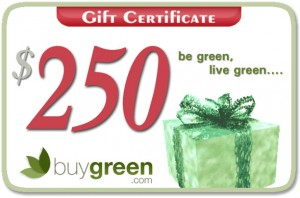 BuyGreen.com Gift Card Giveaway for $250
