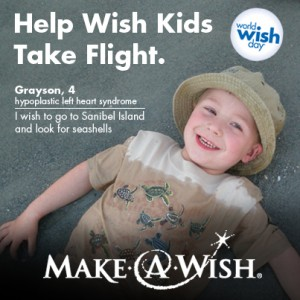 Help Wish Kids Take Flight with Make-A-Wish