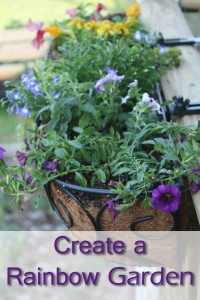 Create a Rainbow Garden Planter #LowesCreator
