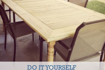 DIY Patio Table to Fit the Whole Family!
