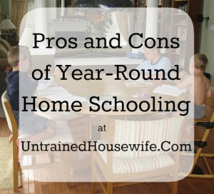 Pros and Cons of Homeschooling Year-Round