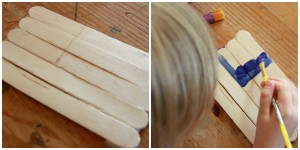Preschooler Activity: Popsicle Stick Flags for the 4th