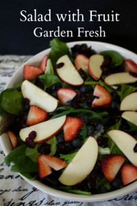 Salad with fruit and Dijon Wine Dressing