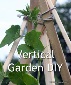 Build a Vertical Gardening TeePee DIY