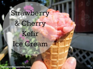 Strawberry Cherry Kefir Ice Cream