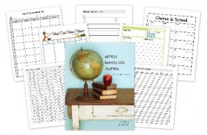 Weekly homeschool planner with editable PDF