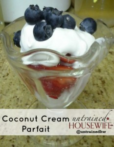 Coconut Whipped Cream Parfaits