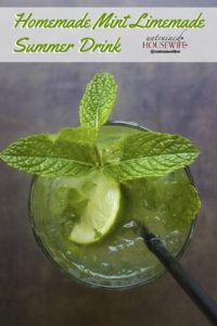 Homemade Mint Limemade Summer Drink