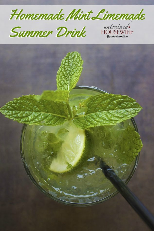 Homemade Mint Limemade Summer Drink