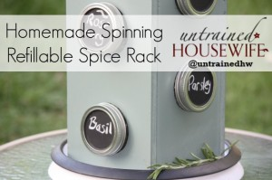 DIY Mason Jar Spinning Spice Rack #LowesCreator