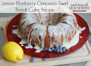 Lemon Blueberry Bundt Cake With Cinnamon Swirl