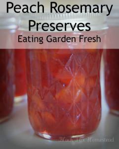 Herbed Peach Rosemary Preserves
