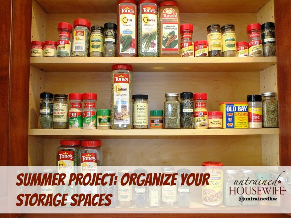 Summer Project: Organize Your Storage Spaces