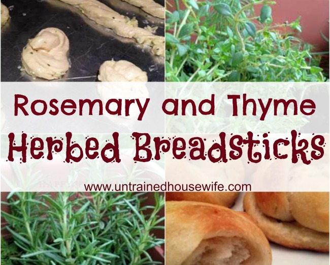 Herbed breadsticks with rosemary and thyme