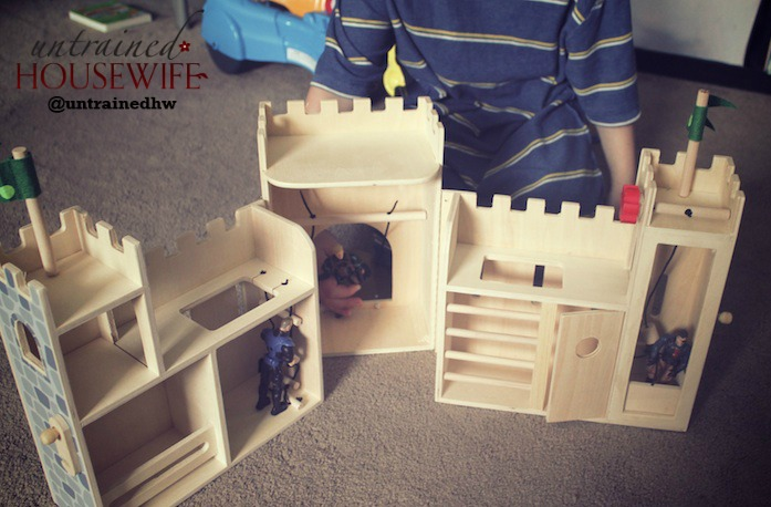 Oxybul wooden castles leave the play to imagination. @UntrainedHW