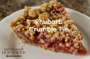 How to Make Rhubarb Crumble Pie - Kid Friendly Recipe