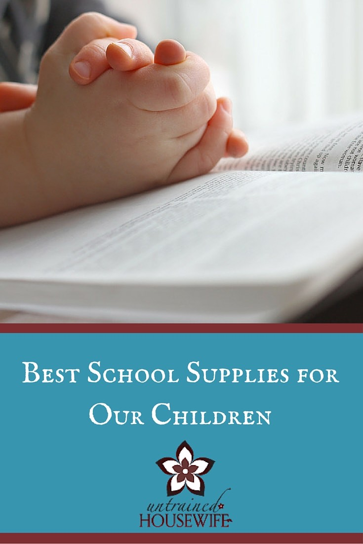 Equipping Your Children with Biblical School Supplies @UntrainedHW