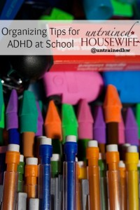 Organizing Tips for ADHD Children at School