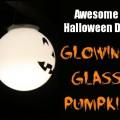 Glowing Glass Pumpkin Night Look #LowesCreator