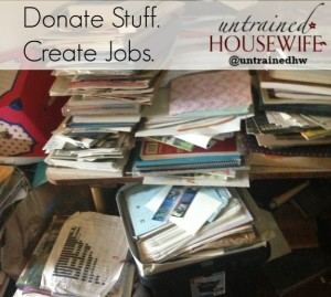 Donating to Goodwill Creates Jobs and Saves Money (and Sanity) #DonateStuffCreateJobs