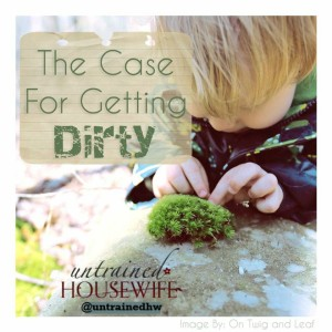 A group of bloggers make the case for letting kids get dirty. Where do you fall on the muddy spectrum? @UntrainedHW