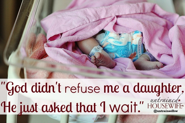 Moms of boys often struggle with the desire for a baby girl...@UntrainedHW