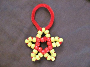 Beaded Star Christmas Tree Ornaments