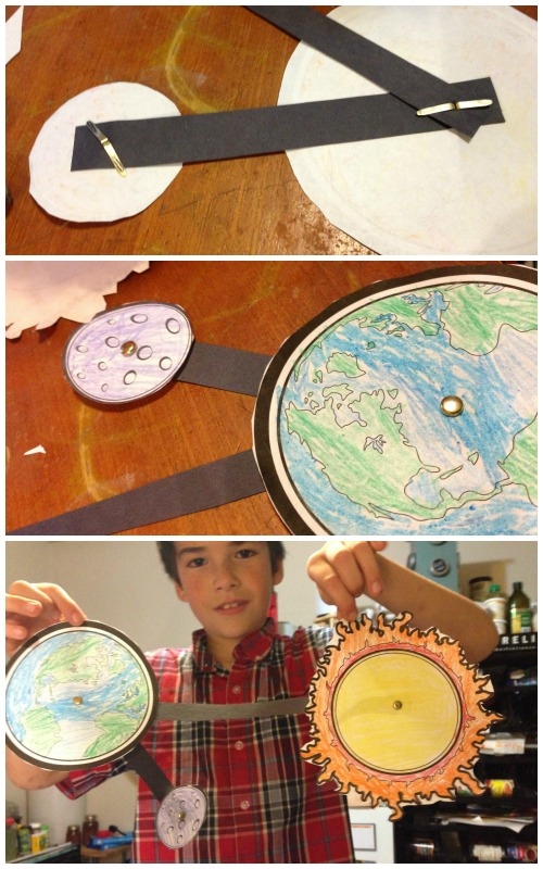 Sun Earth Moon Model For Kids Sun And Earth Model Assembly