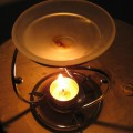 Myrrh Oil in an Essential Oils Burner