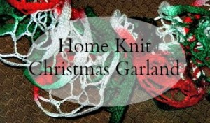 Home Knit Christmas Garland