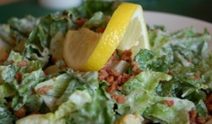 caesar salad with raw probiotic ceasar salad dressing