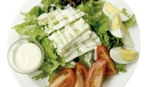 salad with raw ranch dressing