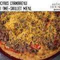 One skillet meal - delicious cornbread chili