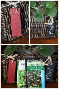 Indoor Herb Planter With Wooden Plant Tags #LowesCreator