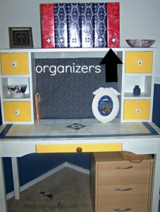 Organize Paperwork at the Kids' Desk
