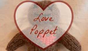 Knitted love doll