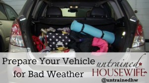 Prepare your vehicle for bad weather