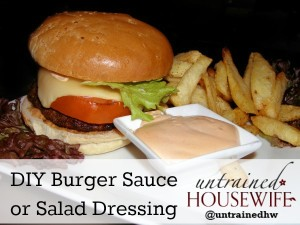 DIY Thousand Island Burger Sauce or Dressing