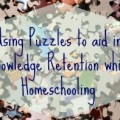 Using puzzles as Homeschooling aid