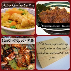 3 parchment recipes for meat and fish