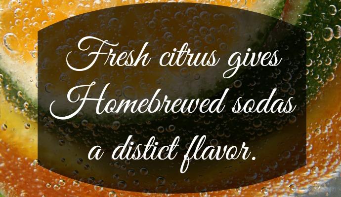 Fresh citrus gives Homebrewed sodas a distict flavor.