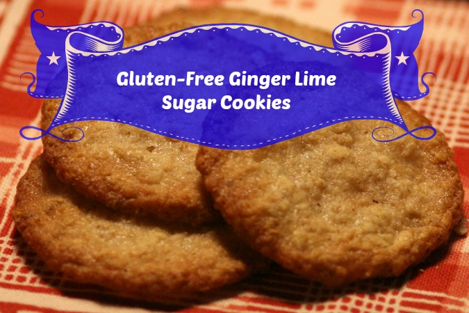 Gluten-Free Ginger Lime Sugar Cookies