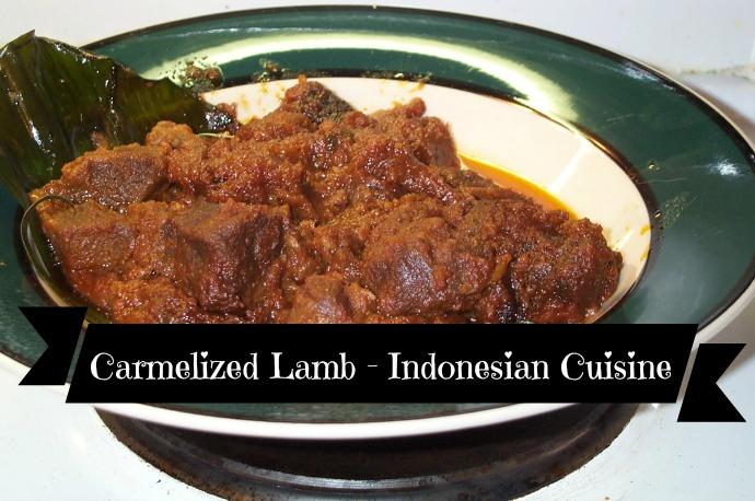Carmelized Lamb - Indonesian Cuisine