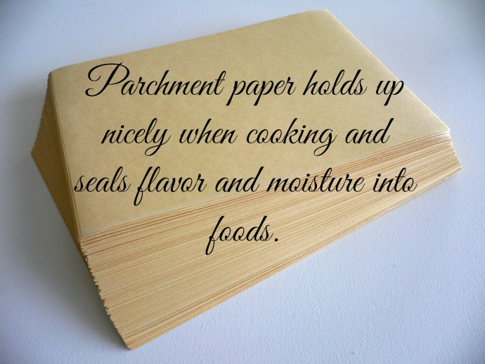 Parchment paper holds up nicely when cooking and seals flavor and moisture into foods.