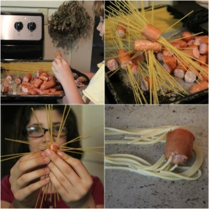 How to make pasta monsters